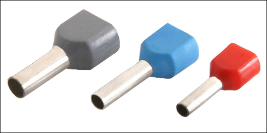 Twin Cord End Terminal Insulated Ferrule